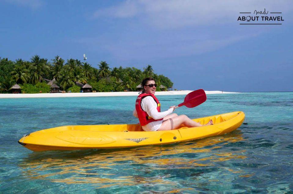 kayak en el hotel Banyan Tree de Maldivas