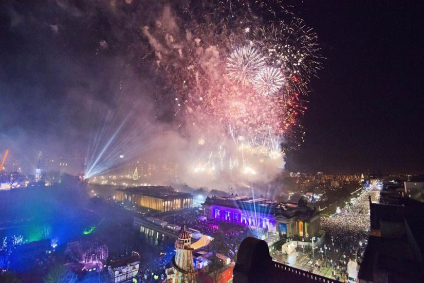 fuegos artificiales edimburgo hogmanay - foto de Chris Watt / Edinburgh Hogmanay