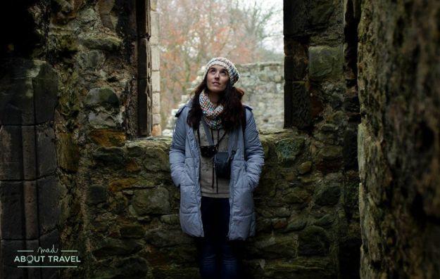 Patricia cuni en el castillo de aberdour escocia