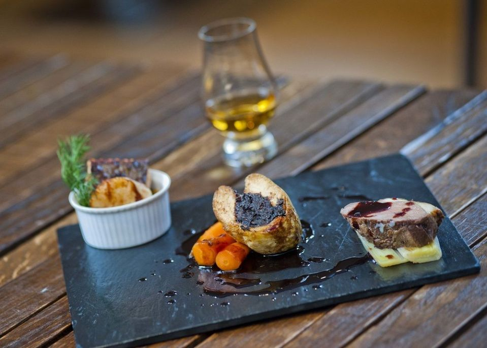 Amber Restaurant - Taste of Scotland main course