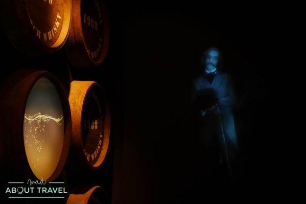paseo en barril por la Scotch Whisky Experience