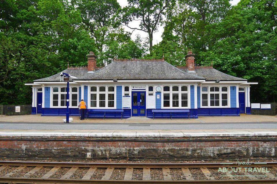 estación de tren de pitlochry, escocia