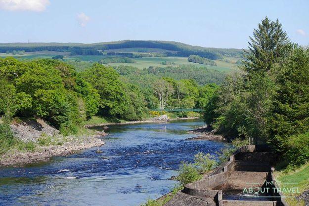que ver en pitlochry: río tummel