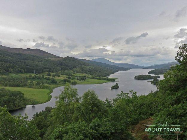 vistas del loch tummel desde queens view en pitlochry