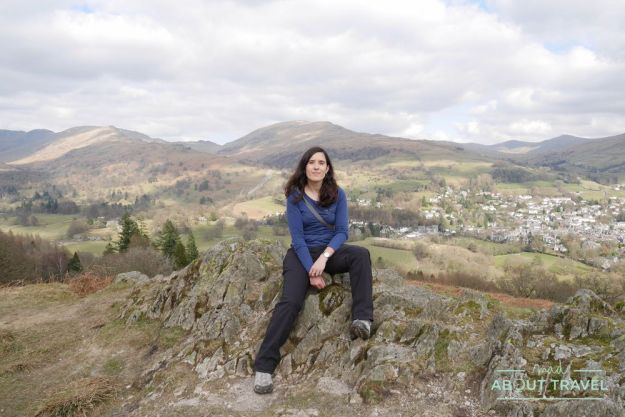 patricia cuní en loughrigg fell, ambleside, lake district