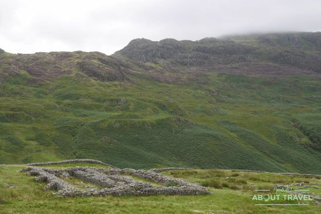fuerte romano de hardknott, lake district inglaterra
