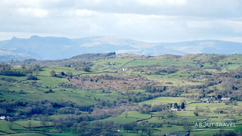 ruta senderista scout scar en kendal, lake district inglaterra