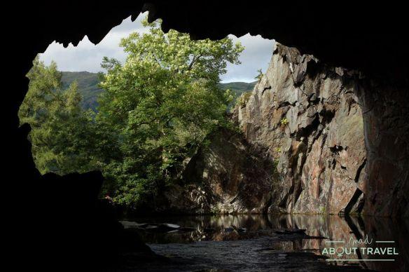 rydal cave, lake district inglaterra