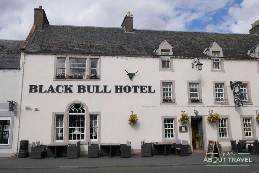 hotel black bull en lauder, escocia