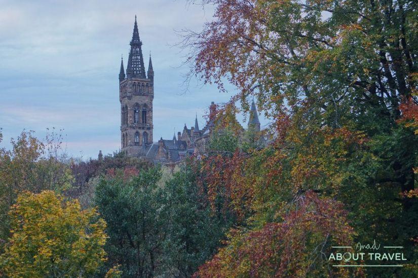 localizaciones de Outlander en Glasgow: kelvingrove park