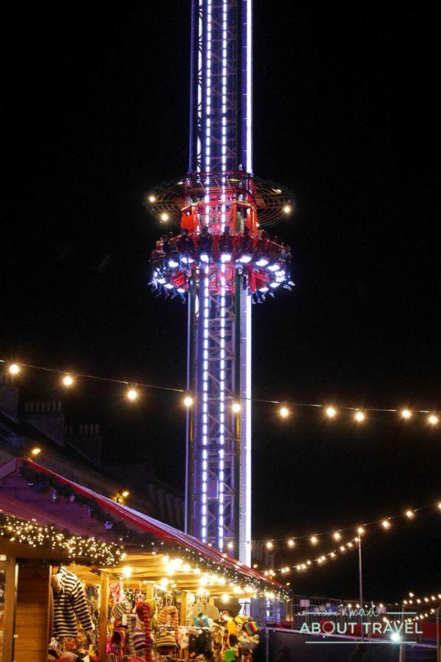 navidad en Edimburgo: drop tower