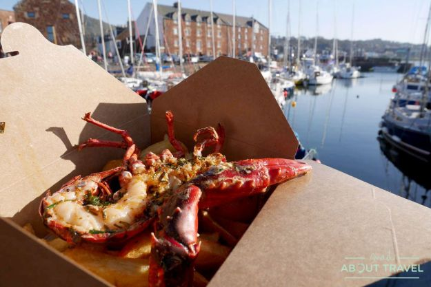 donde comer en east lothian: langosta en the lobster shack, north berwick