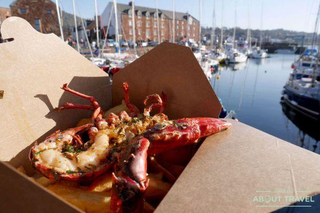 donde comer en east lothian: langosta en the lobster shack, north berwick