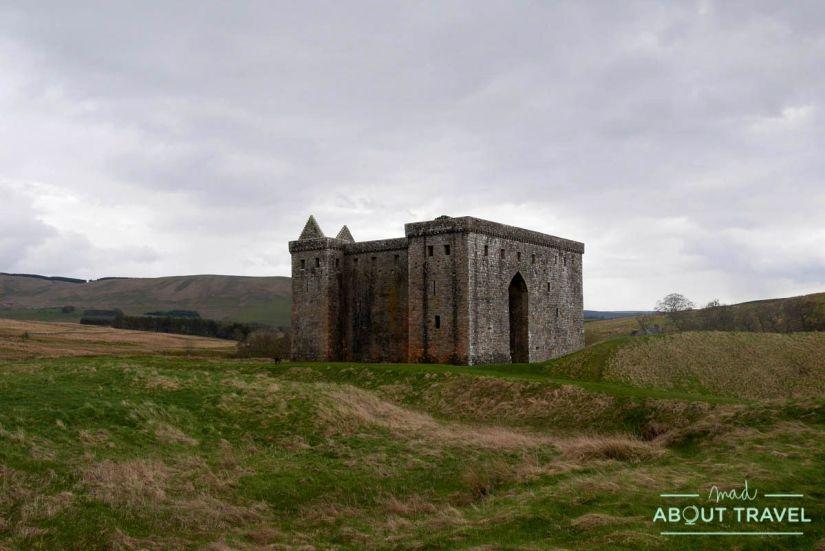 castillo de hermitage, borders de Escocia