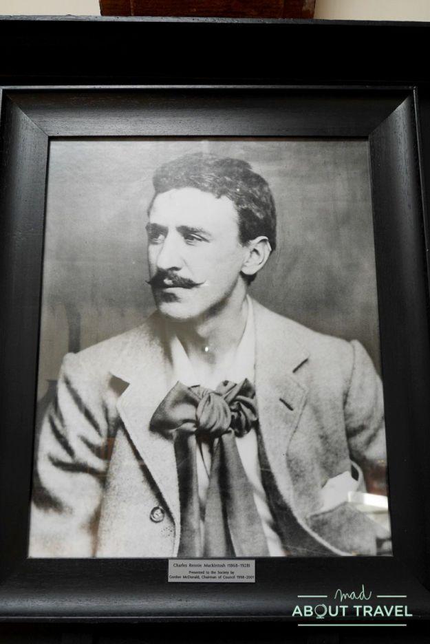 ruta de mackintosh Glasgow: retrato de Charles Rennie Mackintosh