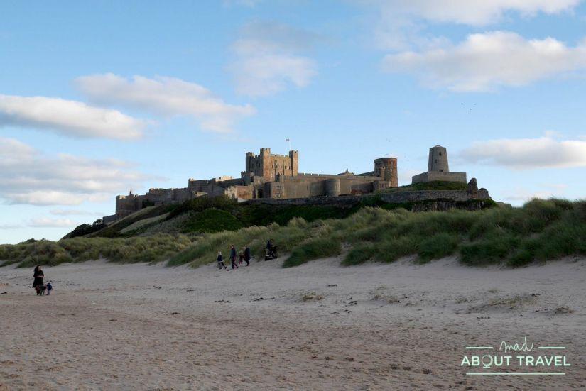 castillo de Bamburgh en Northumberland