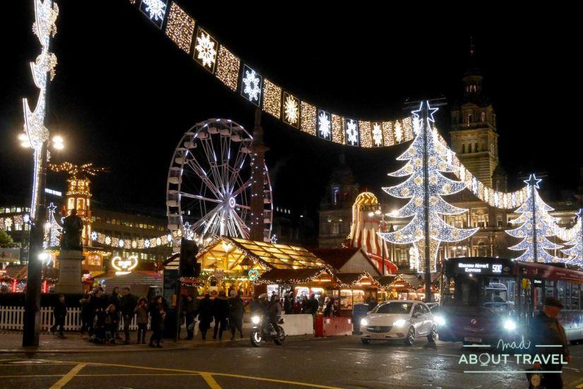 mercado de navidad de glasgow