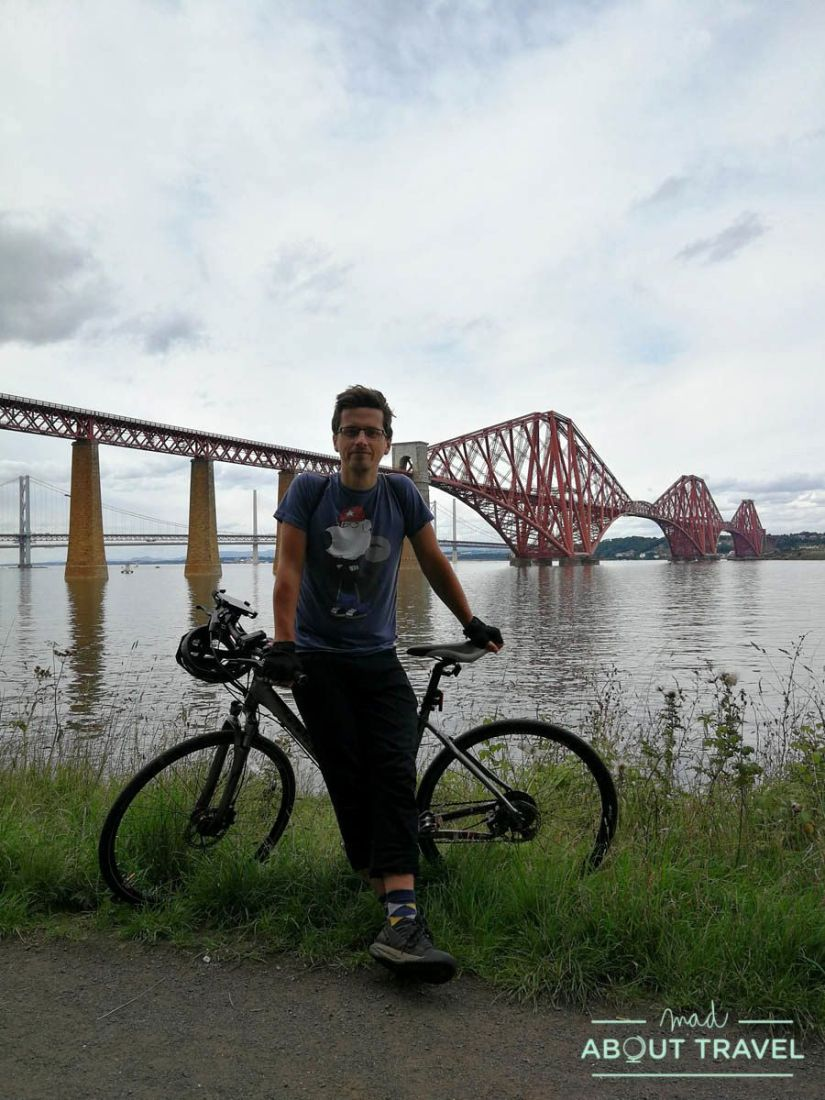 ruta en bicicleta desde Edimburgo: south queensferry