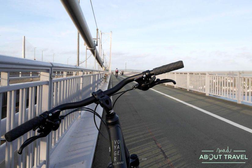 ruta en bicicleta desde Edimburgo: puentes forth