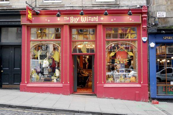 ruta de Harry Potter en Edimbugo: tiendas Harry Potter The Boy Wizard