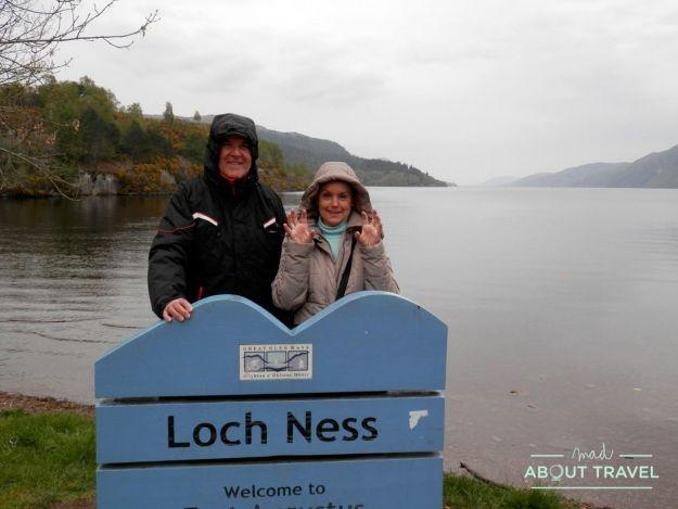 que ver en fort augustus: mis padres en el Lago Ness