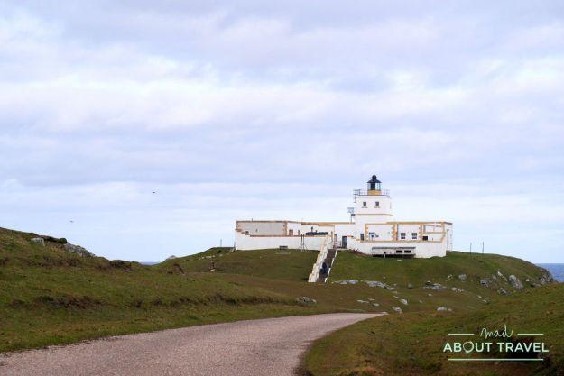 Faro de Strathy Point, Escocia