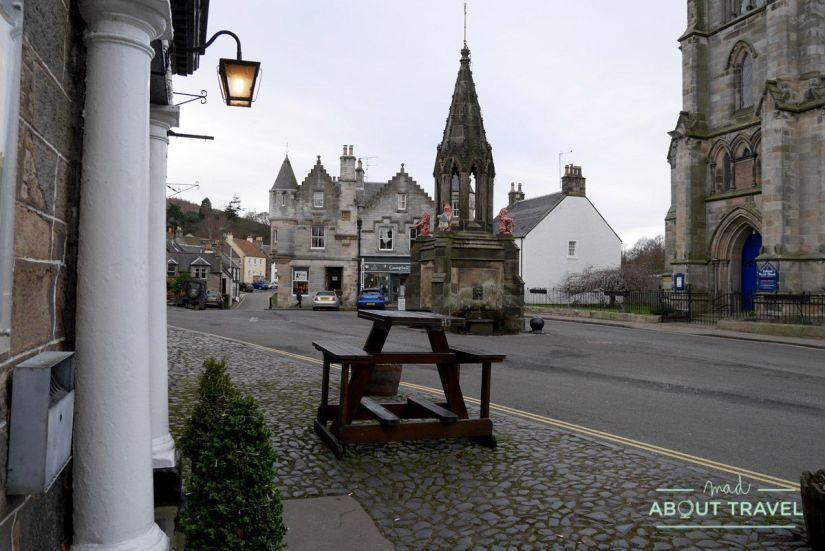 High street de falkland, escocia
