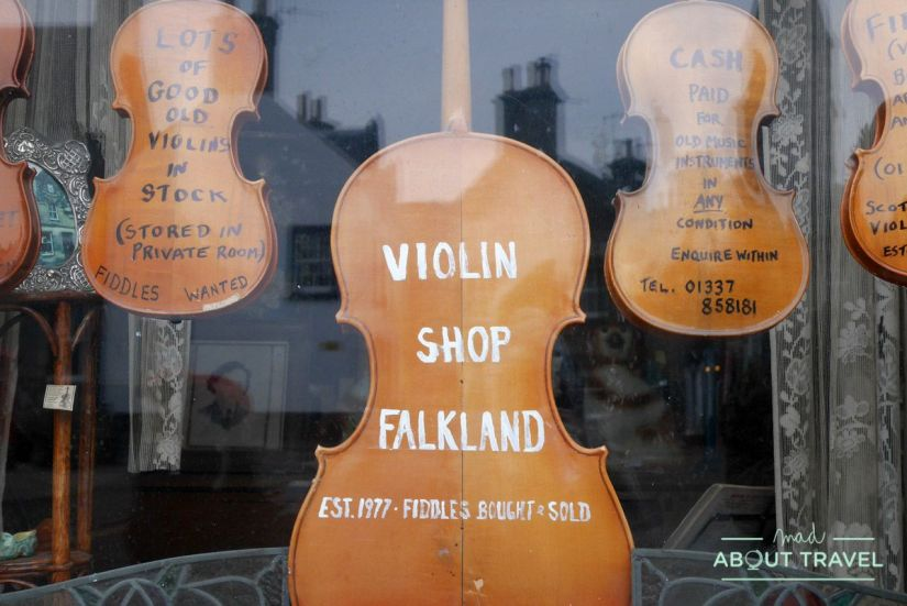 tienda de violines en falkland