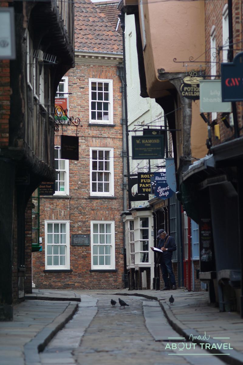 vista de la calle Shambles en York
