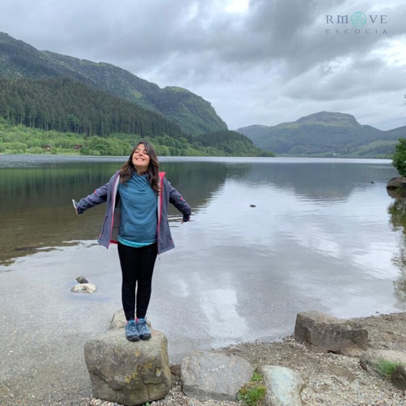 Loch Lubnaig, en el área de Stirling. Highlands