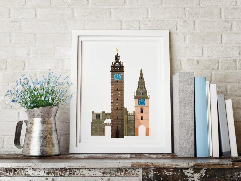 Ilustración de Glasgow de Love That View