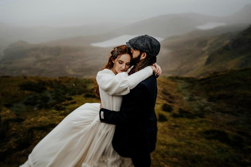Sesión de boda en la isla de Skye