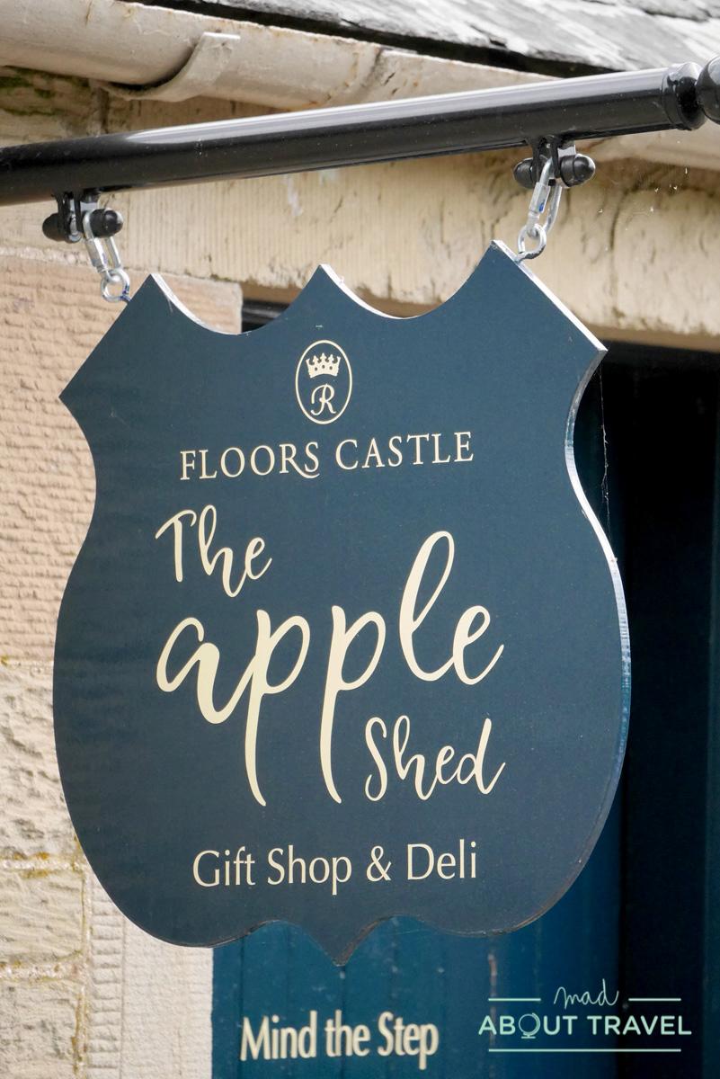 tiendas en el castillo de Floors, Escocia