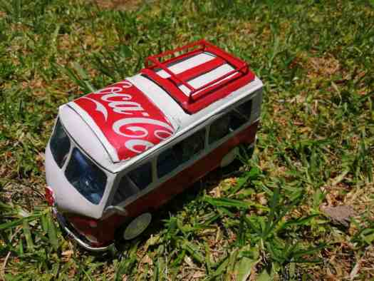 Handmade vw Coca cola bus