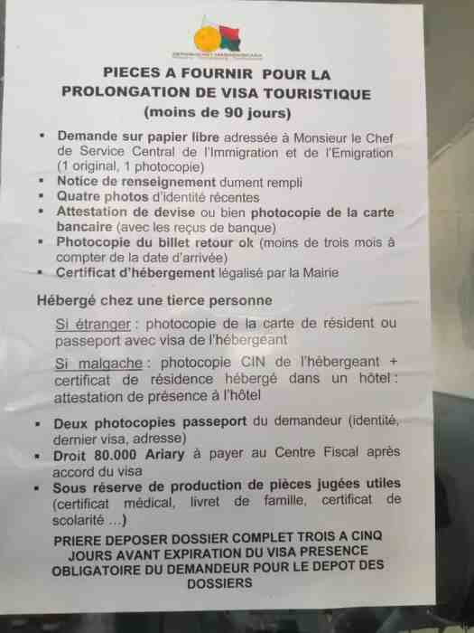 Instructions on how to prolong a tourist visa up to 90 days