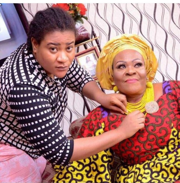 Nkechi Blessing and mother