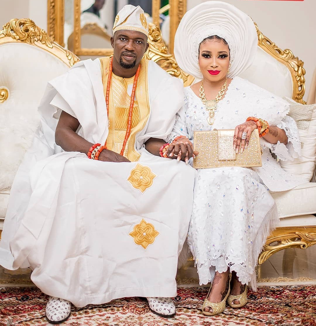 Lizzy Anjorin and Husband