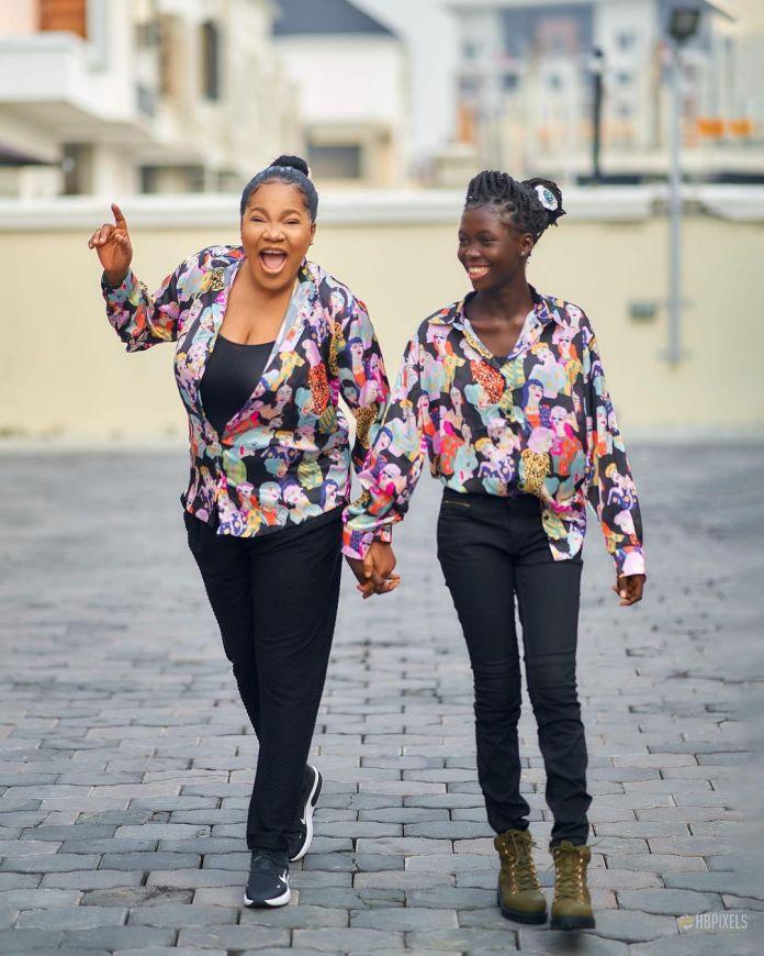 Toyin Abraham and step daughter, Temitope Ajeyemi