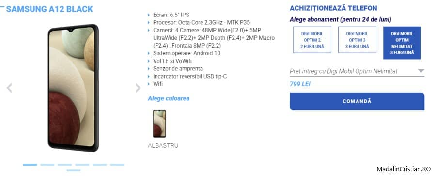 Samsung A12 VoLTE VoWiFi DIGI.Mobil