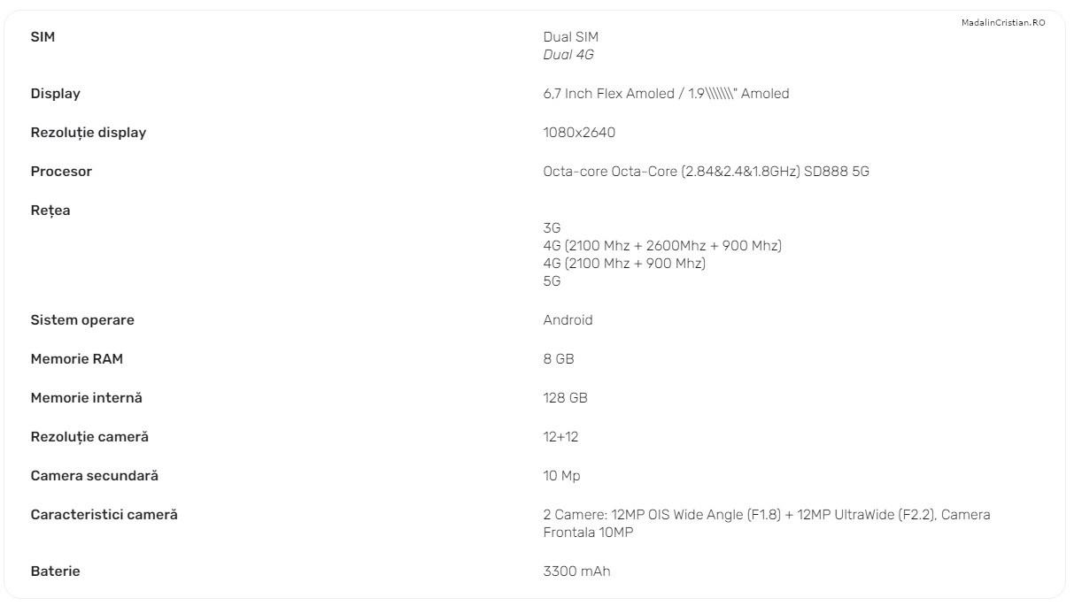 Samsung Galaxy Z Flip 3 VoLTE DIGI.Mobil specs