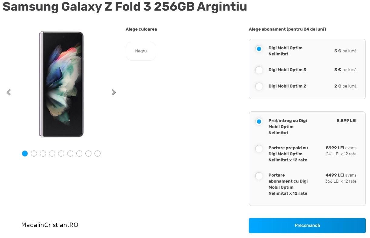 Samsung Galaxy Z Fold 3 VoLTE