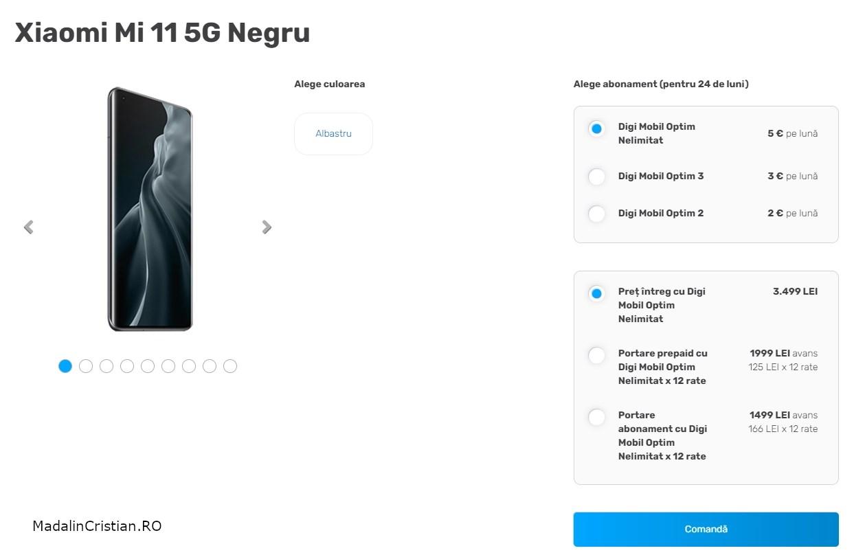 Xiaomi Mi 11 5G VoLTE DIGI.Mobil
