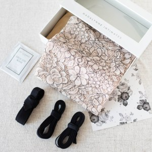 diy floral lace lingerie sewing kit