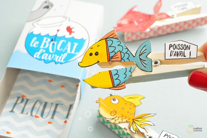 DIY Tuto Poisson Davril Imprimer Madame Citron Blog