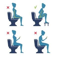 Position aux WC contre la constipation