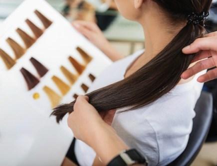 Nuancier pour coloration de cheveux