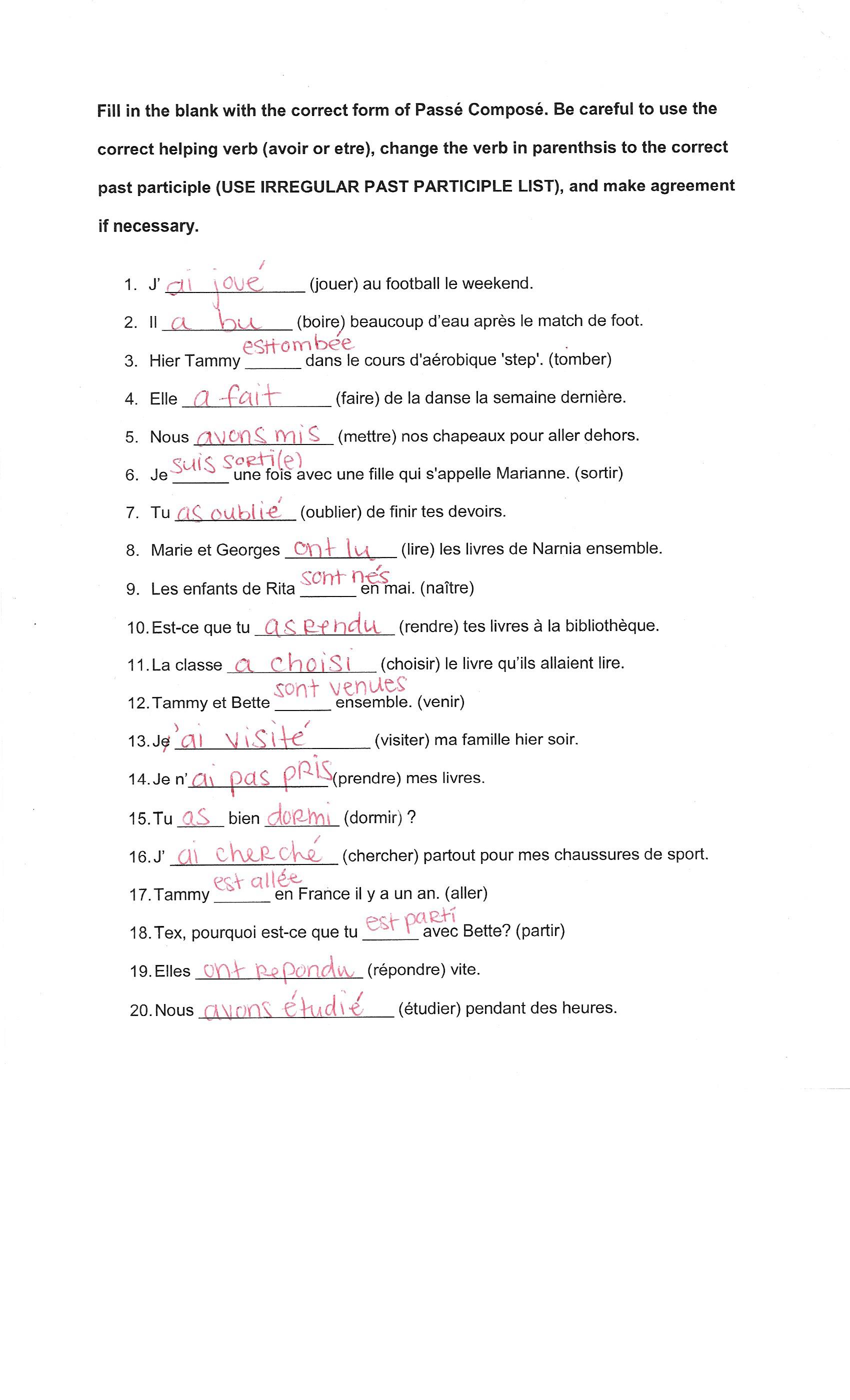 hight resolution of French Verbs Worksheet   Printable Worksheets and Activities for Teachers