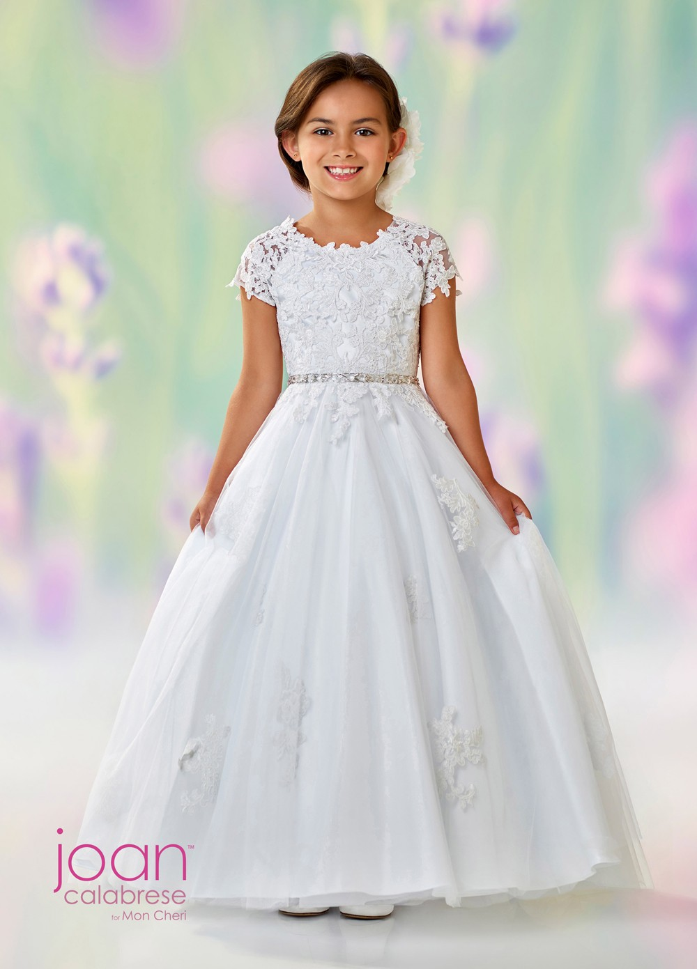 Joan Calabrese 118326 Open V Back First Communion Dress