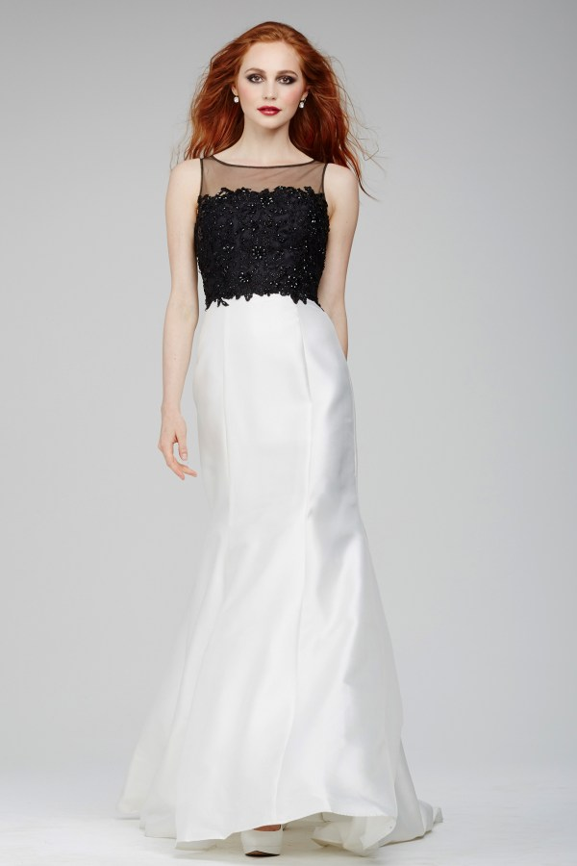 Jovani 24804 Dress Sleeveless Sheer Bateau Neckline Lace