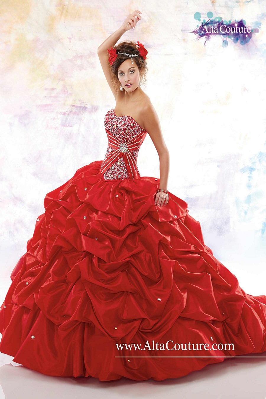 Marys 4T144 Quinceanera Dress Taffeta PickUp Skirt Detachable Train  MadameBridalcom